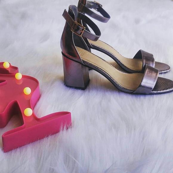 1cc2ca2a437 Oasis Lavendar Metallic Shiny Block Heels